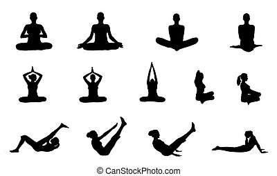 The Yoga Indian girl - Indian yoga girl vector images...