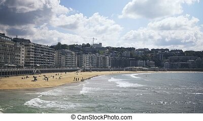 San Sebastian is a resort town on the Bay of Biscay in Spain...