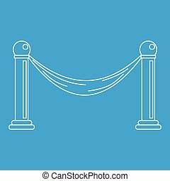 Barrier icon, outline style - Barrier icon blue outline...