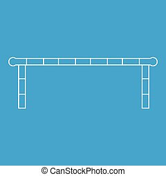Striped barrier icon, outline style - Striped barrier icon...