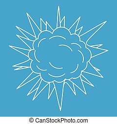Spica icon, outline style - Spica icon blue outline style...