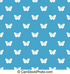 Black butterfly pattern seamless blue - Black butterfly...