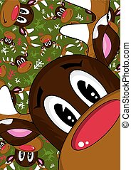Red Nose Reindeer Pattern