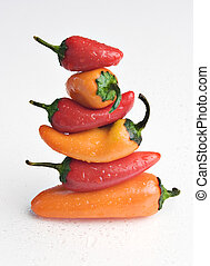 Stack of peppers