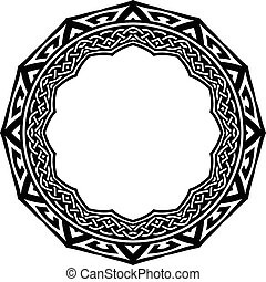 pattern frame - Abstract vector black and white illustration...