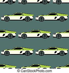 Sports car color seamless pattern