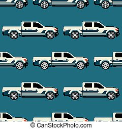 Jeep colored seamless pattern