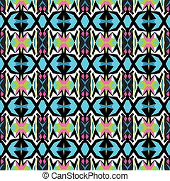 Colored abstract seamless pattern