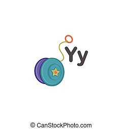 Y is for Yoyo alphabet vector