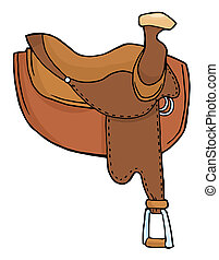 Horse Saddle  - Brown Leather Horse Saddle