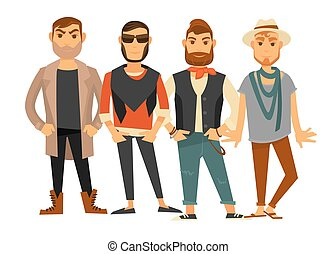 Men different clothes man fashion models casual clothing...