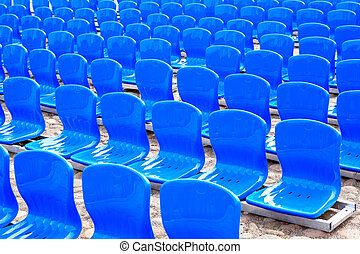 Blue Seats In A Row