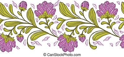 Vector floral seamless pattern.