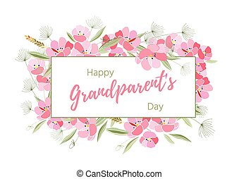 Holiday greetings illustration Grandparents Day - Holiday...