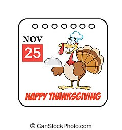 Thanksgiving Holiday Calendar - Happy Thanksgiving November...