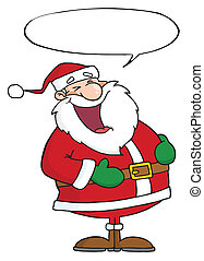 Santa Laughing - Laughs Santa Claus With Speech Bubble