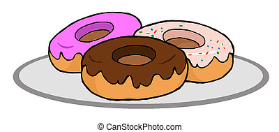 Donuts - Plate Of Donuts