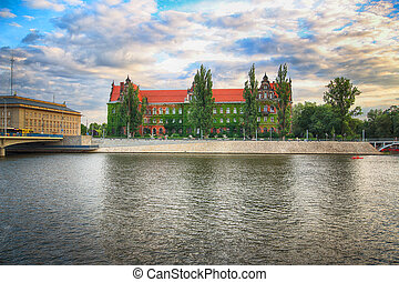 WROCLAW, POLAND - AUGUST 8, 2017: Wroclaw Old Town....
