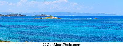 Aegean sea coast (Chalkidiki, Greece). - Aegean sea coast...