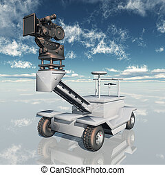 35mm movie camera dolly - Computer generated 3D illustration...
