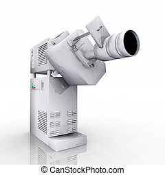 35mm movie projector - Computer generated 3D illustration...
