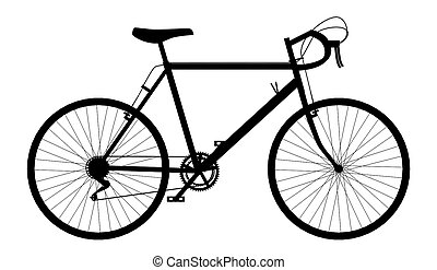 Silhouette of a racing bicycle - Computer generated 2D...