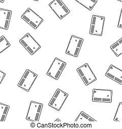 House Heating Vector Seamless Pattern - Modern Style House...