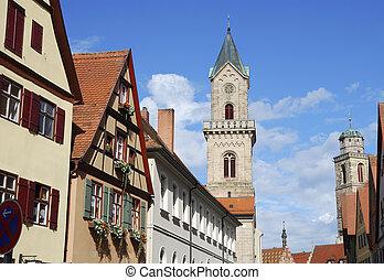 Dinkelsb?hl - Churches in the old town of Dinkelsb?hl...