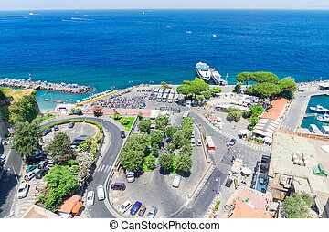 Sorrento, southern Italy - port of Sorrento, southern Italy