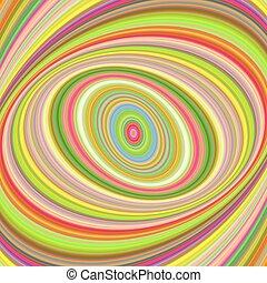 Colorful ellipse digital art background - vector fractal...