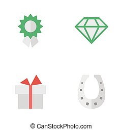 Vector Illustration Set Of Simple Achievement Icons....