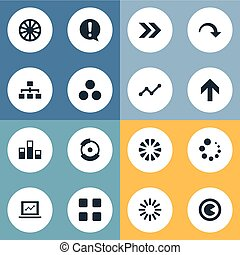 Vector Illustration Set Of Simple Diagram Icons. Elements...