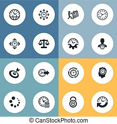 Vector Illustration Set Of Simple Administration Icons....