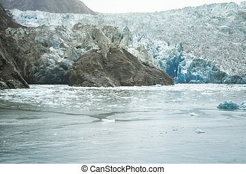 South Sawyer Glacier at the end of Tracy's Arm, Alaska