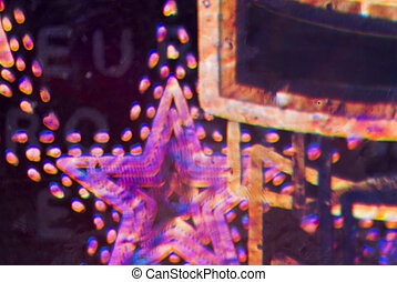 Microphoto Euro Hologram - Microphoto: Detail of the...
