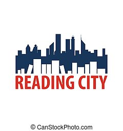 Reading city Book Store Logo. Education and book emblem. Vector illustration.