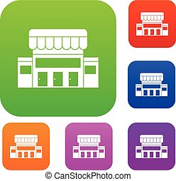 Supermarket building set collection