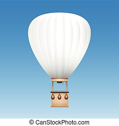 White Blank Captive Balloon - Captive balloon with white...
