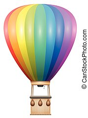 Captive Balloon Rainbow Colored - Captive balloon - rainbow...
