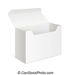 White Package Box Opened. For electronic device - White...