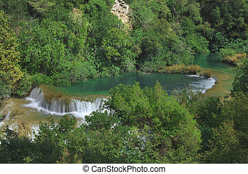 Krka Waterfall Croatia - National Park KRKA Waterfall in...