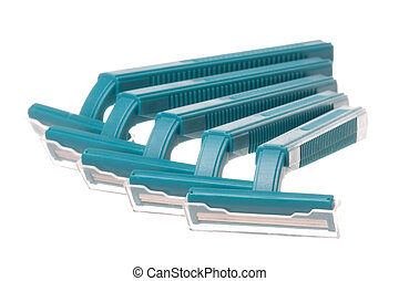 Disposable Razors Isolated - Isolated image of disposable...