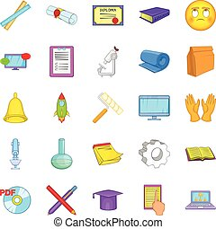 Researcher icons set, cartoon style - Researcher icons set....