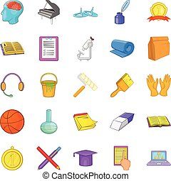 New knowledge icons set, cartoon style - New knowledge icons...