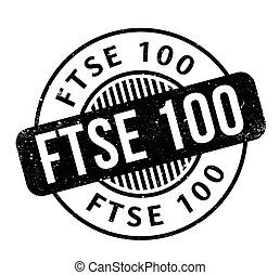 FTSE 100 rubber stamp. Grunge design with dust scratches....