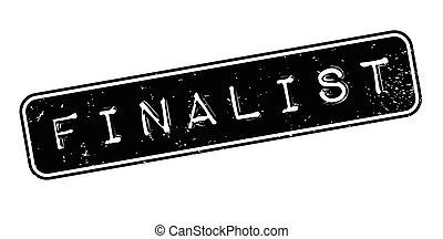 Finalist rubber stamp. Grunge design with dust scratches....
