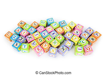 概念, ブロック, アルファベット,  -, 山, 勉強, 教育