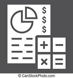 Budget planing glyph icon, business and finance