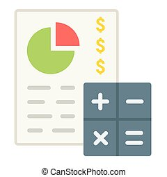Budget planing flat icon, business and finance