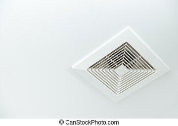 Air Duct with dust in the bathroom, Danger for health and...